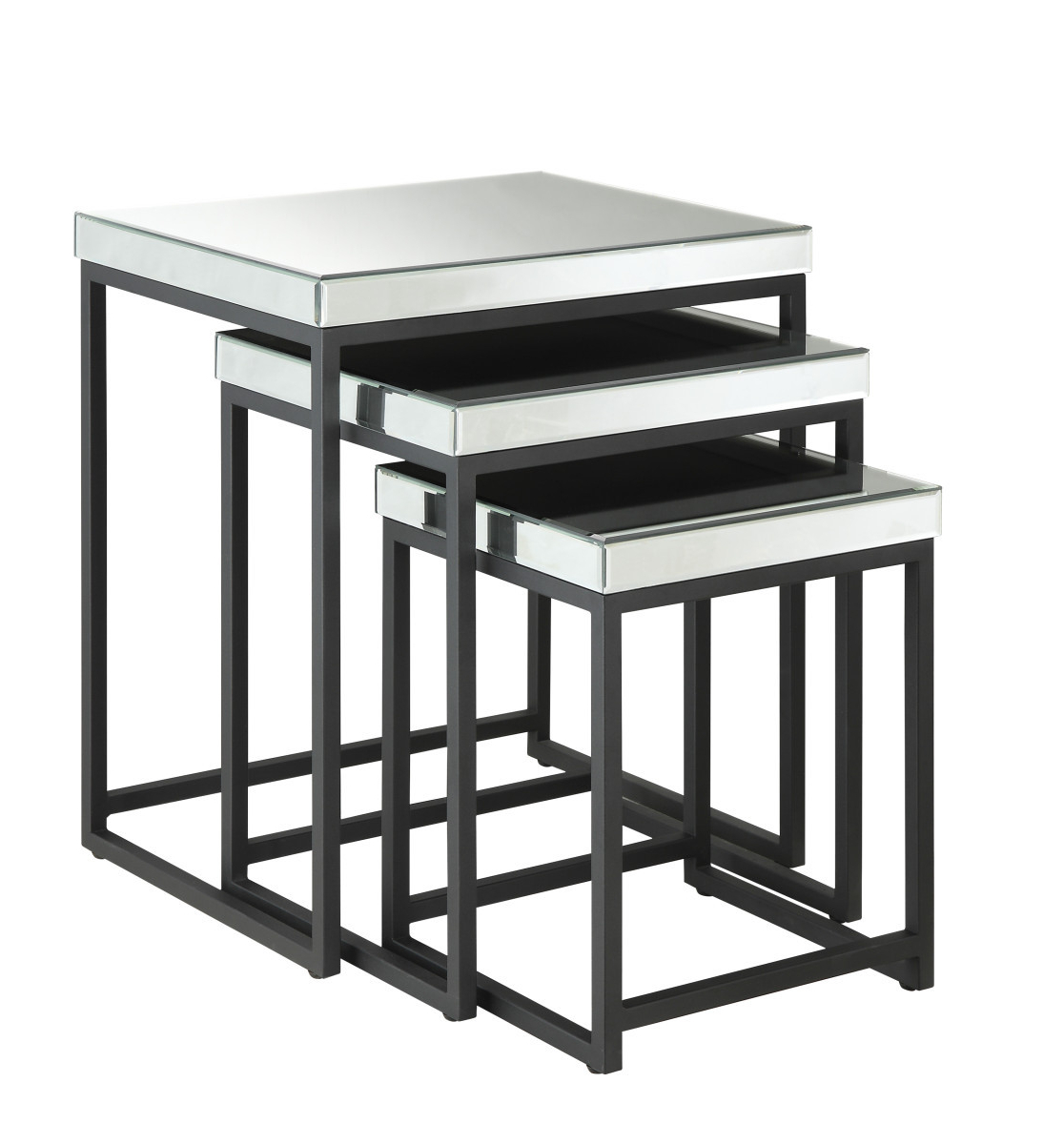 Widely Used Krystal 3 Piece Square Mirror Nesting Tables With Metal Legs Fully Assembled Within Krystal Ergonomic Metal Garden Benches (View 13 of 30)