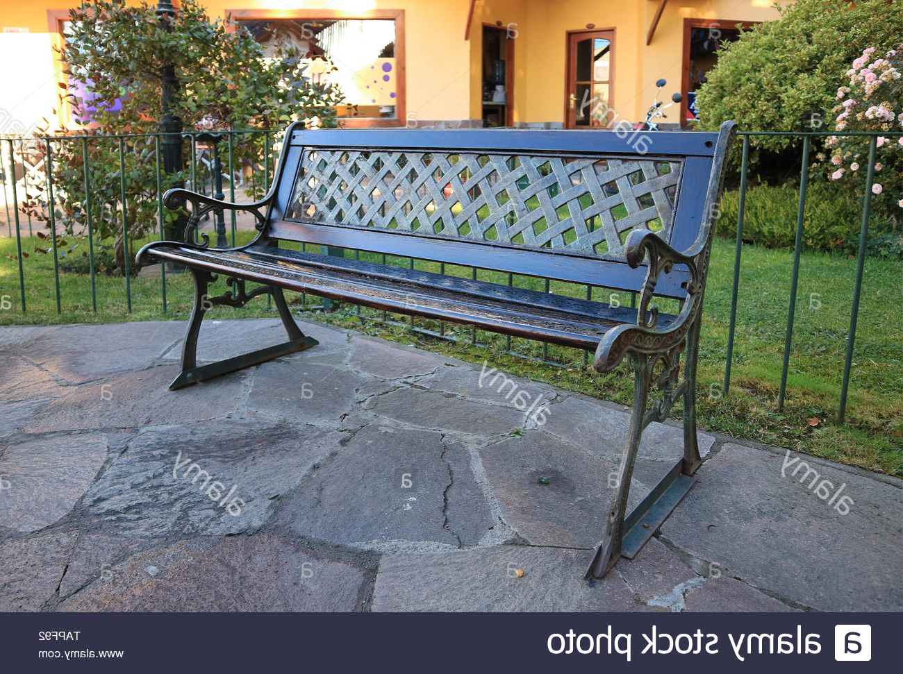 Widely Used Page 2 – Public Garden Bench High Resolution Stock In Strasburg Blossoming Decorative Iron Garden Benches (View 10 of 30)