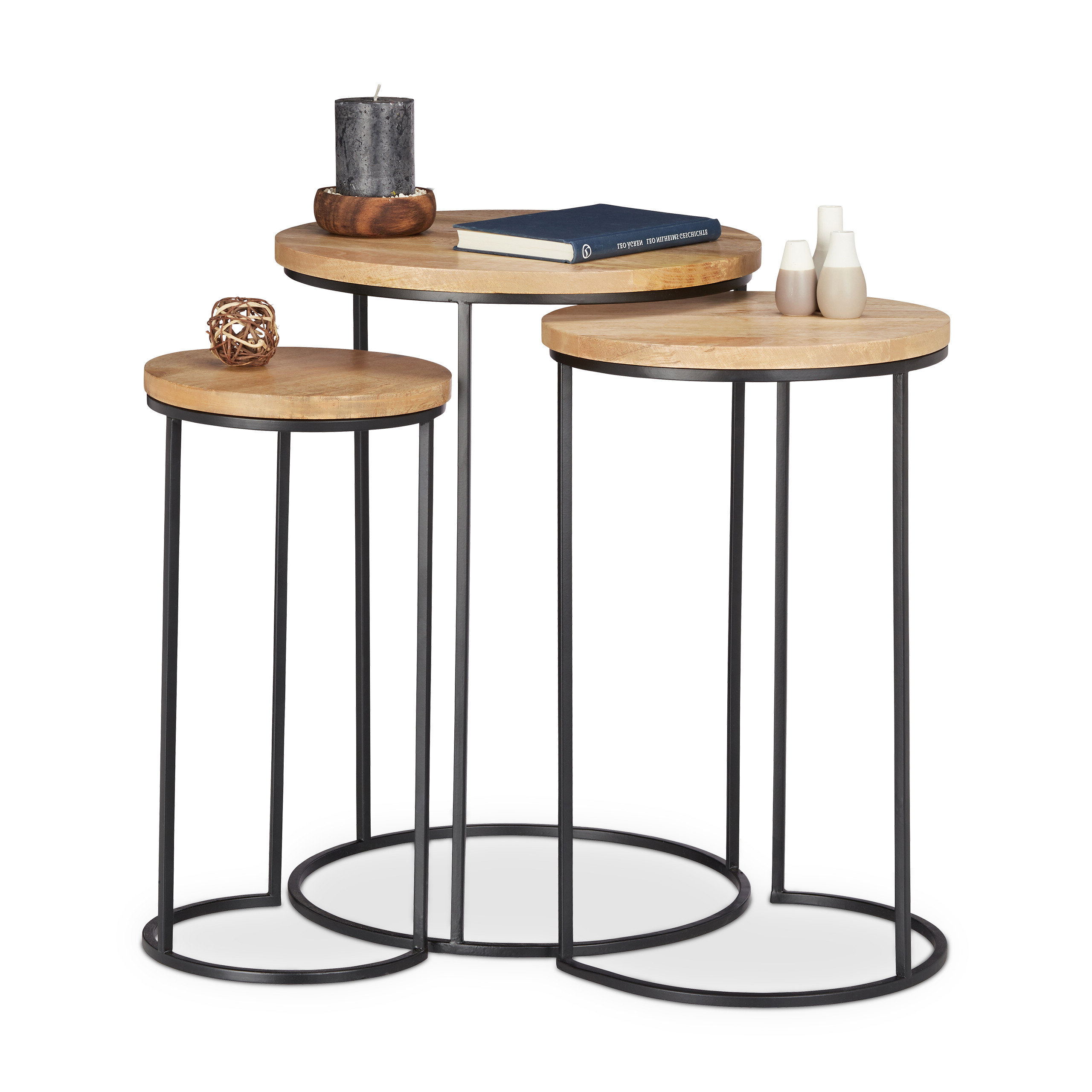 Widely Used Standwood Metal Garden Stools Intended For Mercury Row Stanwood 3 Piece Nesting Tables & Reviews (View 7 of 30)