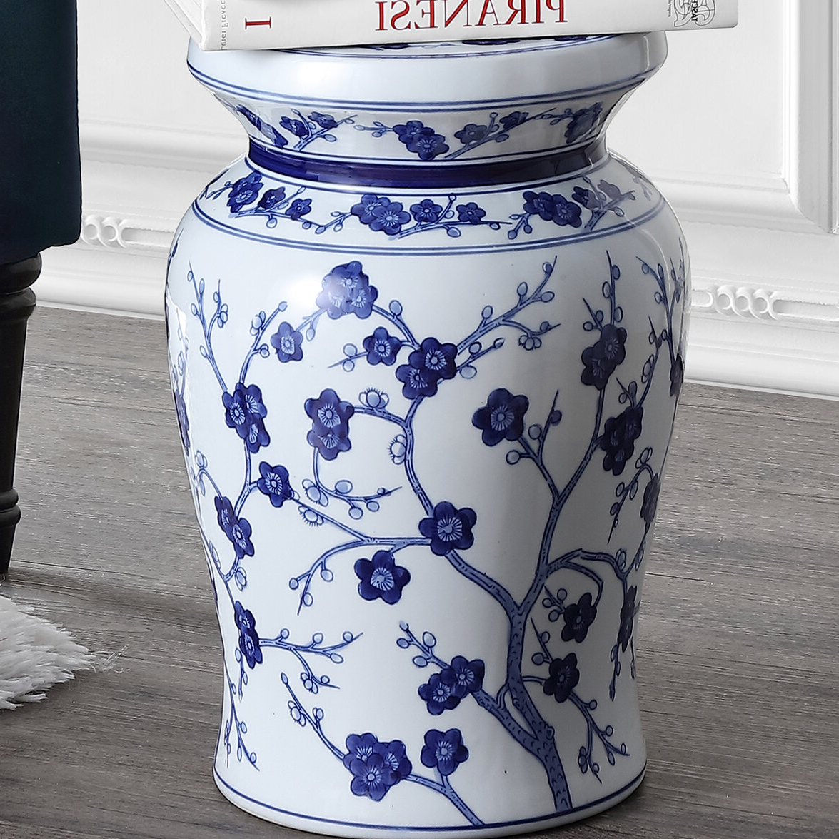 Wiese Cherry Blossom Ceramic Garden Stool Within Favorite Williar Cherry Blossom Ceramic Garden Stools (View 2 of 30)