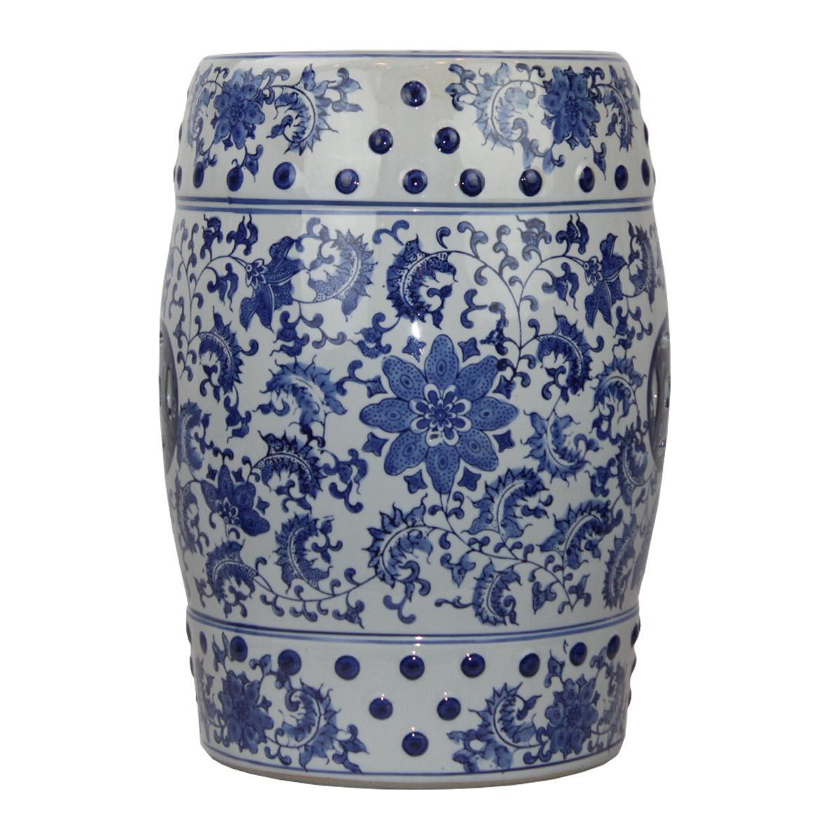 Wiese Cherry Blossom Ceramic Garden Stools Pertaining To Favorite Malcom Modern Contemporary Floral Porcelain Garden Stool (View 11 of 30)