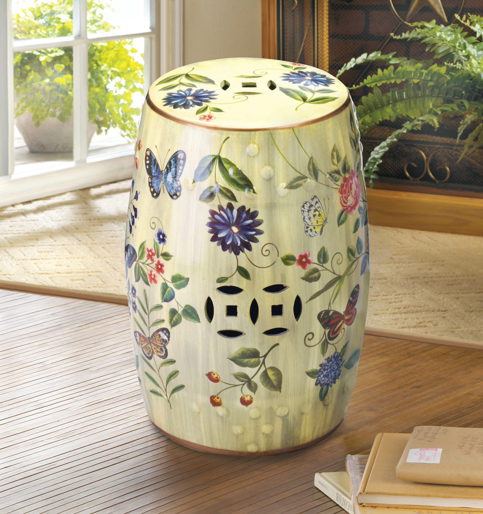 Wiese Cherry Blossom Ceramic Garden Stools With Fashionable Ceramic Table Stools (View 12 of 30)
