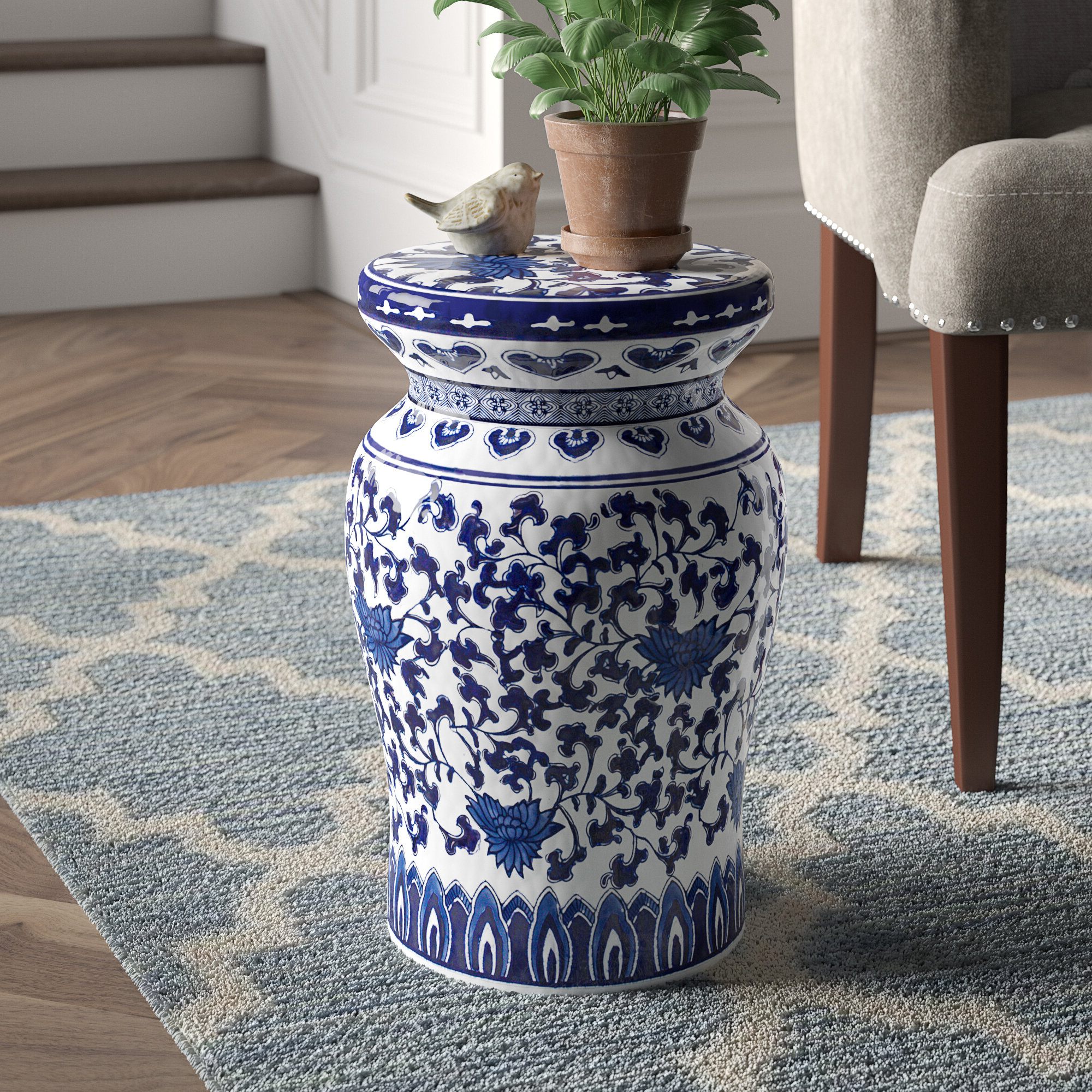 Wiese Cherry Blossom Ceramic Garden Stools Within Widely Used Houghtaling Decorative Garden Stool (View 8 of 30)