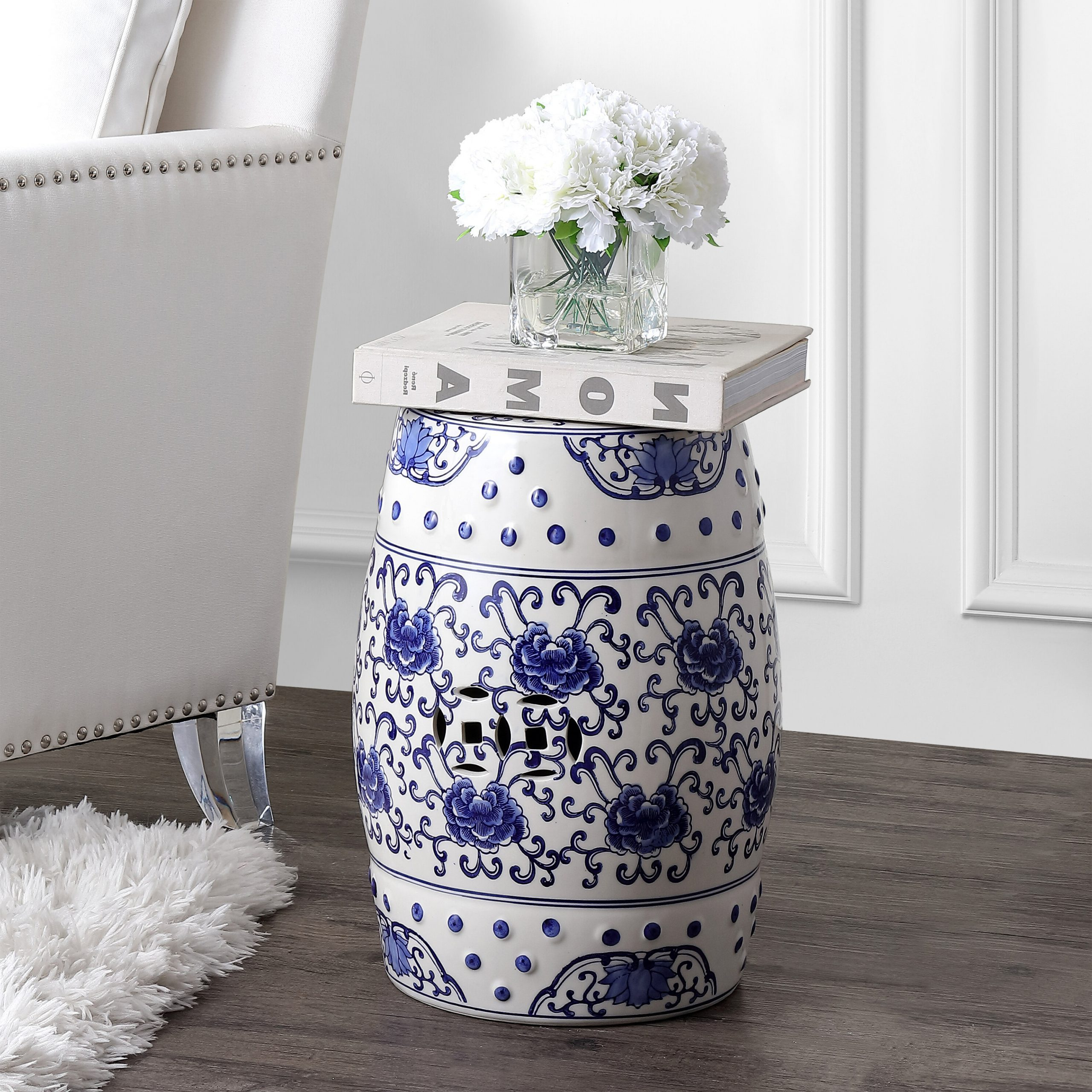 Wilde Poppies Ceramic Garden Stools Intended For Most Recent Blue & Green Garden Stools You'll Love In (View 12 of 30)