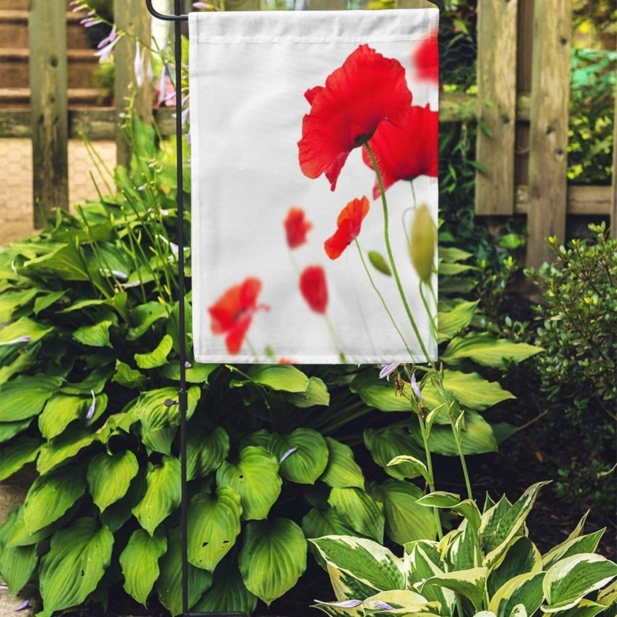 Wilde Poppies Ceramic Garden Stools Within Current Green Flower Many Red Poppies Angle Of Page Poppy Field Wild Garden Flag Decorative Flag House Banner 28x40 Inch (View 28 of 30)