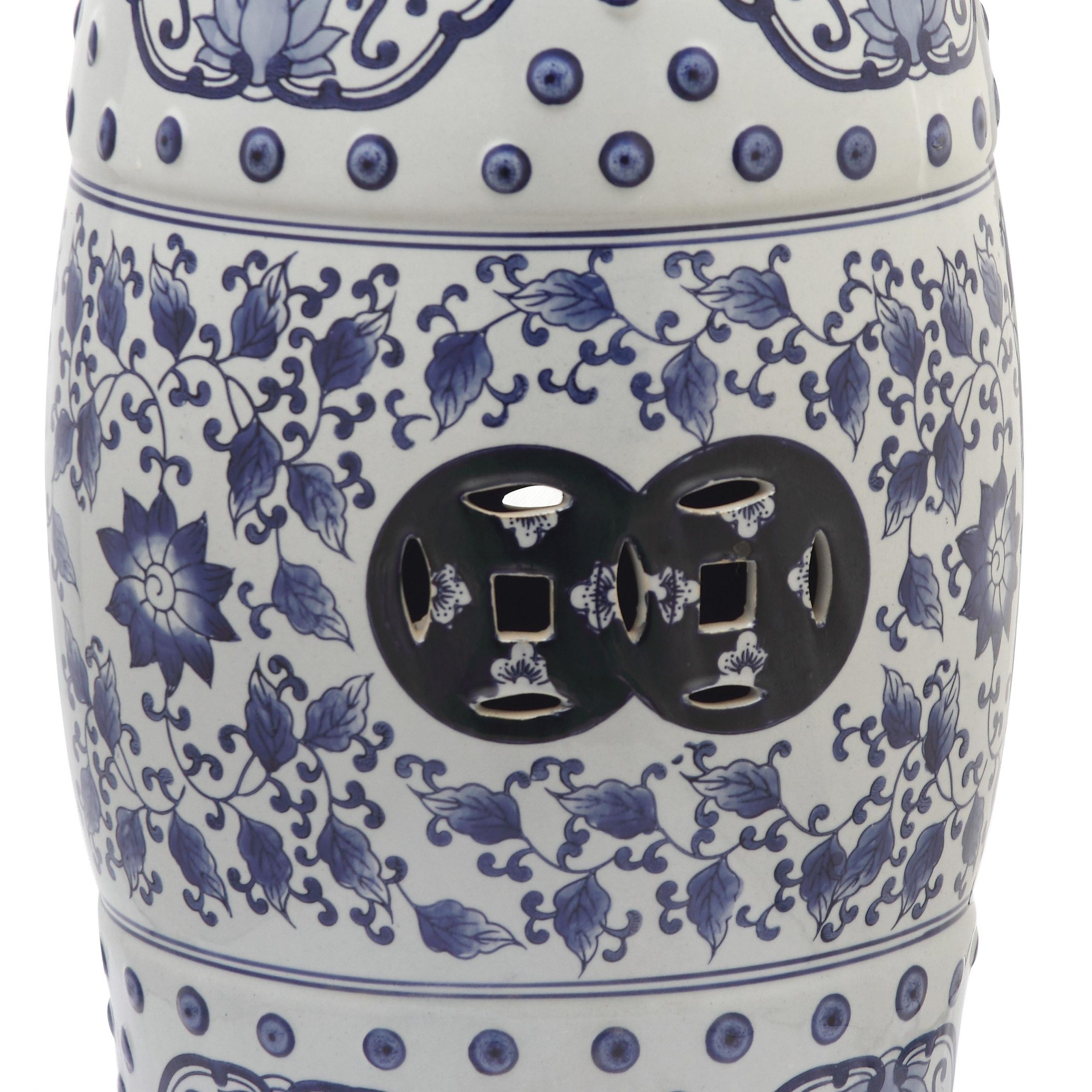 Williar Cherry Blossom Ceramic Garden Stools For Most Recent Blue Ceramic Garden Stools You'll Love In (View 6 of 30)