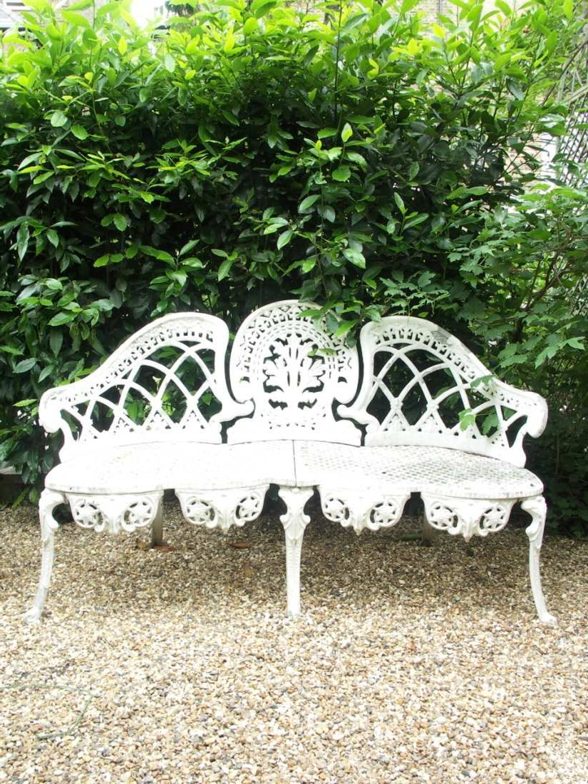 Wrought Iron Garden Furniture, Garden Bench With Regard To Well Liked Michelle Metal Garden Benches (View 6 of 30)
