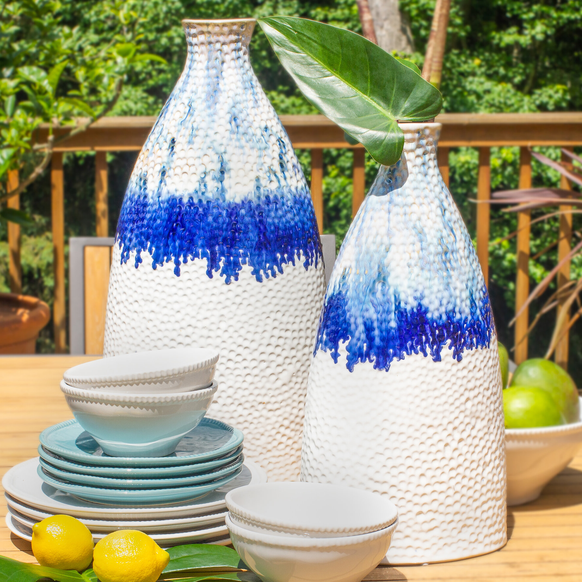 Wurster Blue/white Tasble Vase For Newest Wurster Ceramic Drip Garden Stools (View 9 of 30)
