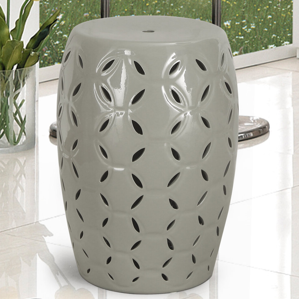 Wurster Ceramic Drip Garden Stools Within Current Lattice Ceramic Garden Stool (View 4 of 30)