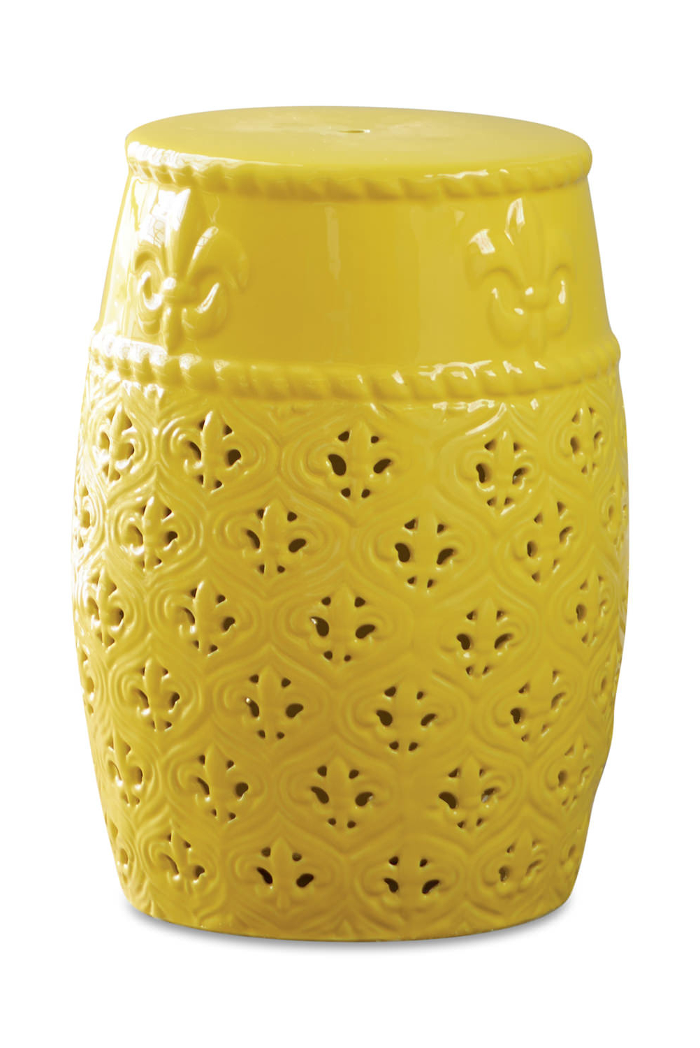 Yellow Ceramic Garden Stool With Regard To Most Up To Date Ceramic Garden Stools (View 4 of 30)