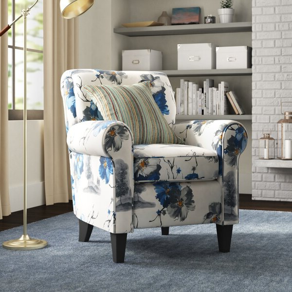 2019 Bethine Polyester Armchairs (set Of 2) With Regard To Blue Pattern Arm Chair (View 4 of 30)