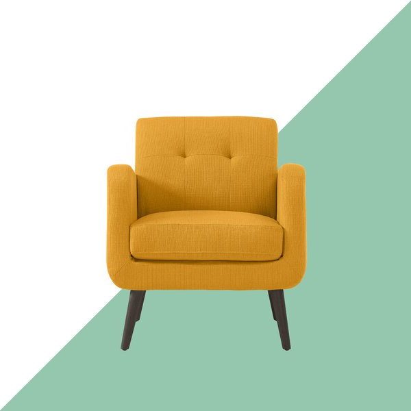 2019 Biggerstaff Polyester Blend Armchairs Pertaining To Araceli Armchair Yellow (View 8 of 30)