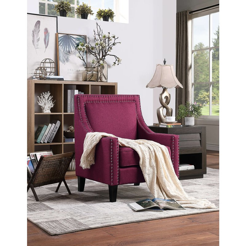 2019 Claudel Polyester Blend Barrel Chairs Intended For Kayleigh Armchair (View 10 of 30)