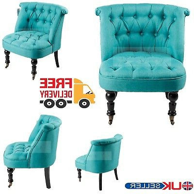 2019 Designer Light Blue Tub Chair Sofa Lined Polyester Fabric Bedroom Armchair Seat (View 30 of 30)