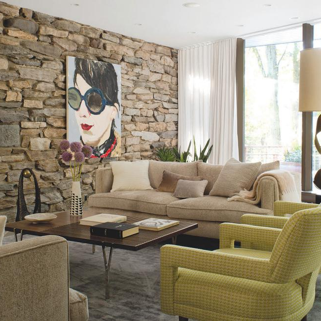 2019 Midcentury Modern Living Space And Living Room Pictures With Regard To Ziaa Armchairs (set Of 2) (View 20 of 30)