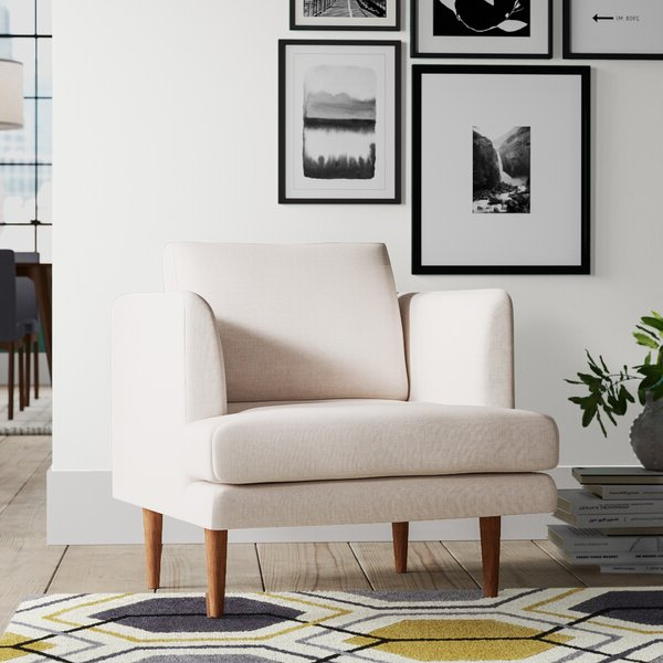 2019 Modern & Contemporary Set Of 2 Accent Chairs Regarding Focht Armchairs (View 29 of 30)