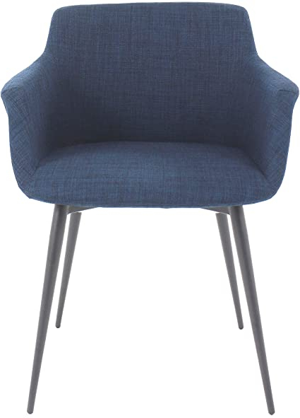 2019 Ronda Barrel Chairs Within Amazon: Moe's Home Collection Ronda Arm Chair, Blue (View 16 of 30)
