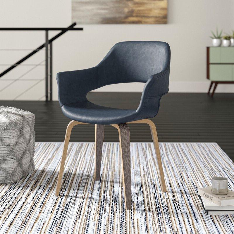 "2019 Sean 24"" W Faux Leather Barrel Chair For Liston Faux Leather Barrel Chairs (View 7 of 30)"