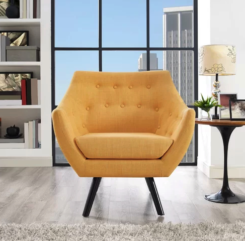 2020 6 Mustard Yellow Accent Chairs For Stylish Homes – Cute With Giguere Barrel Chairs (View 3 of 30)