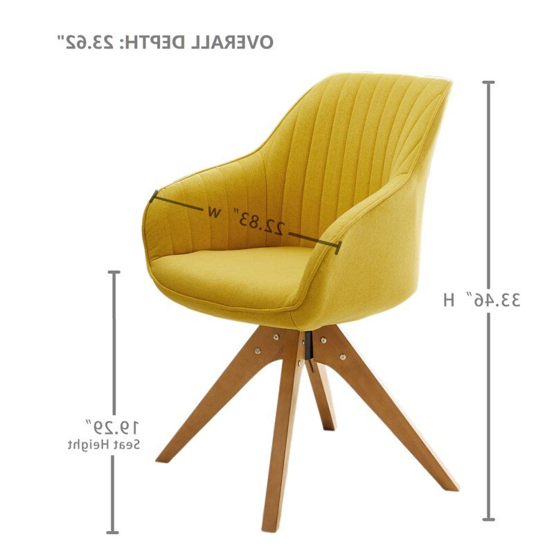 2020 Brister Swivel Side Chair In (View 7 of 30)