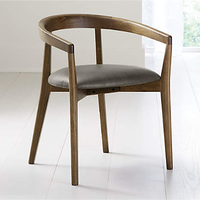 2020 Cullen Shiitake Stone Round Back Dining Chair + Reviews Regarding Danow Polyester Barrel Chairs (View 25 of 30)