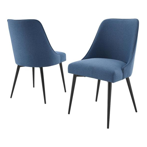2020 Esmund Side Chairs (set Of 2) Pertaining To Steve Silver Colfax Blue Side Chair (set Of 2) Cf450sn – The (View 8 of 30)
