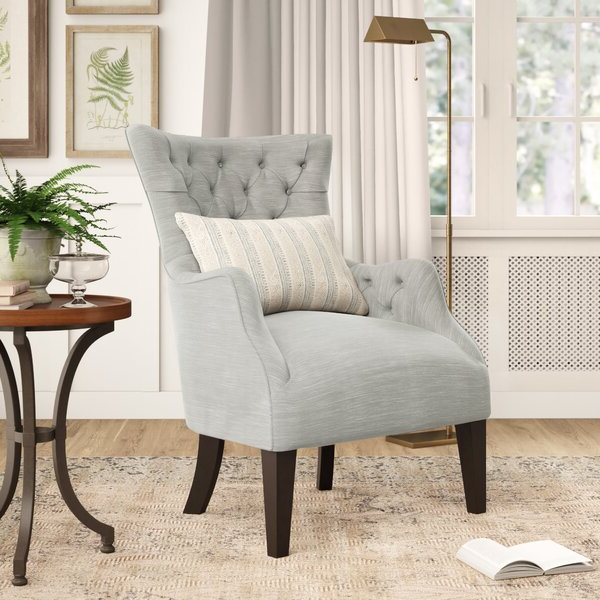2020 Galesville Tufted Polyester Wingback Chairs Throughout Caistor Wingback Chair (View 12 of 30)