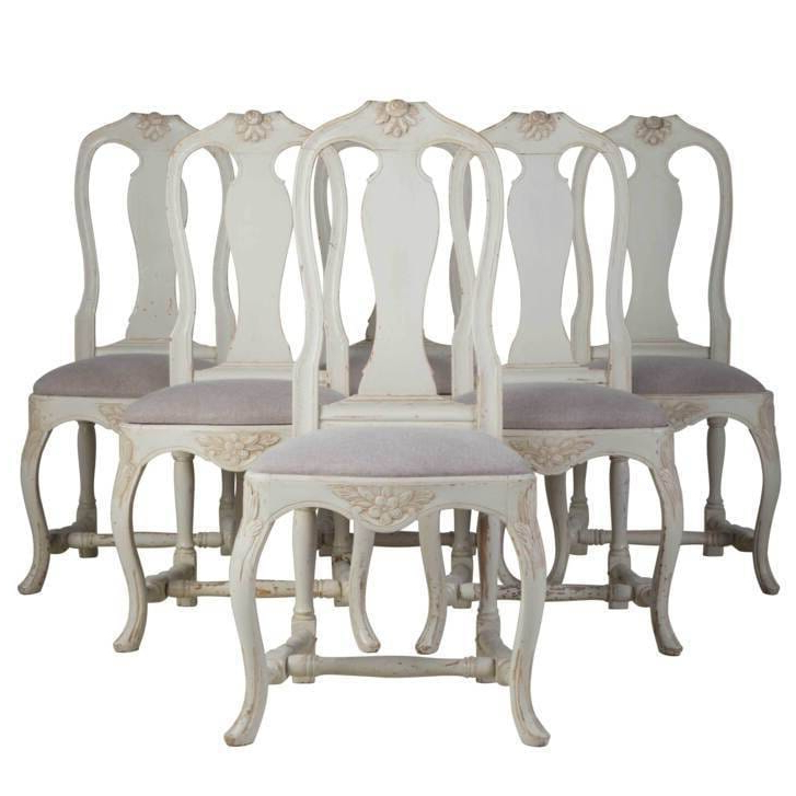 2020 Set Of Swedish Dining Chairs Inside Chiles Linen Side Chairs (View 11 of 30)