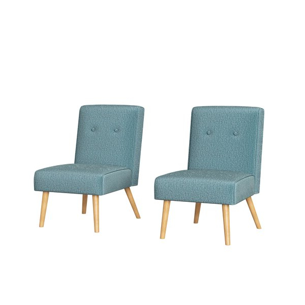 2020 Tufted Armless Chair Inside Harland Modern Armless Slipper Chairs (View 7 of 30)
