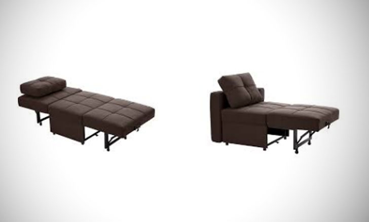 25 Best Convertible Sleeper Chairs For Adults You Can Buy! Within Trendy Onderdonk Faux Leather Convertible Chairs (View 27 of 30)