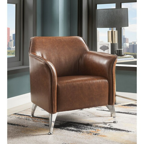"""31"""" W Faux Leather Armchair With Regard To Best And Newest Jarin Faux Leather Armchairs (View 22 of 30)"""