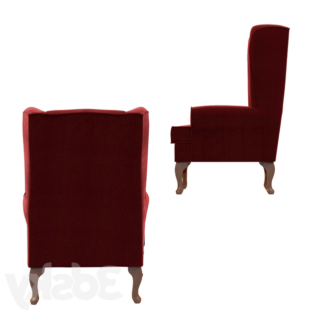 3d Models: Arm Chair – Louisburg Armchair With Regard To Latest Louisburg Armchairs (View 10 of 30)