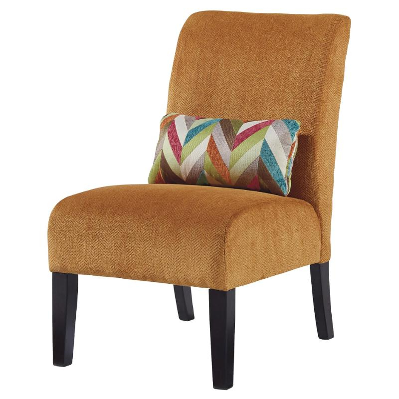 6160260 Ashley Furniture Annora – Orange Accent Chair Regarding Popular Goodyear Slipper Chairs (View 28 of 30)
