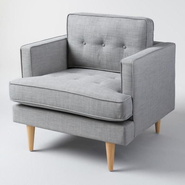 A Clean Silhouette, Tufted Detailing And Tapered Danish Within Most Current Hiltz Armchairs (View 8 of 30)