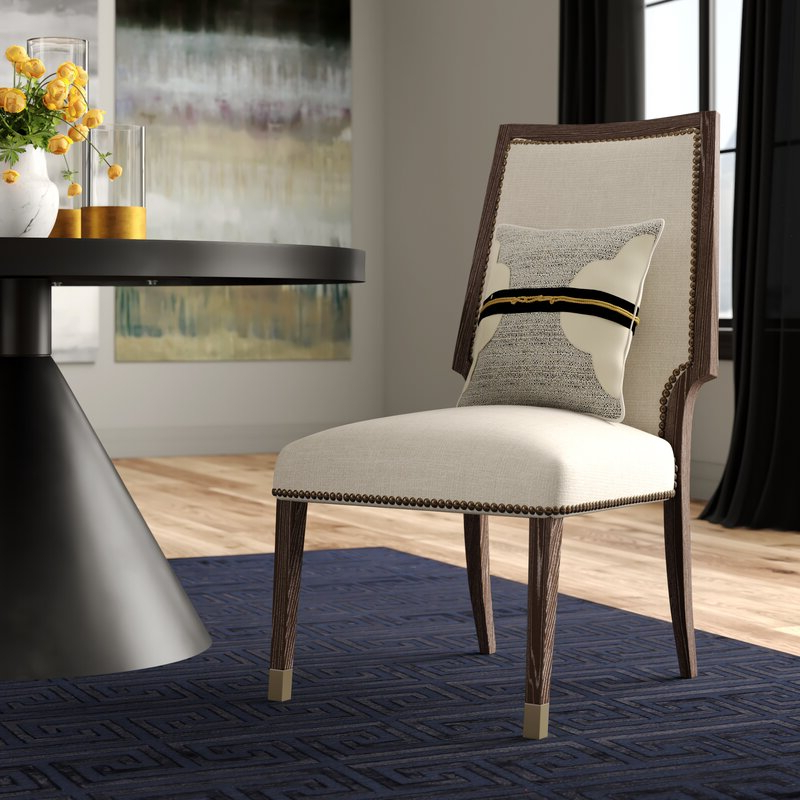 Aaliyah Parsons Chairs Inside Fashionable Clarendon Upholstered Dining Chair In Oatmeal (View 27 of 30)