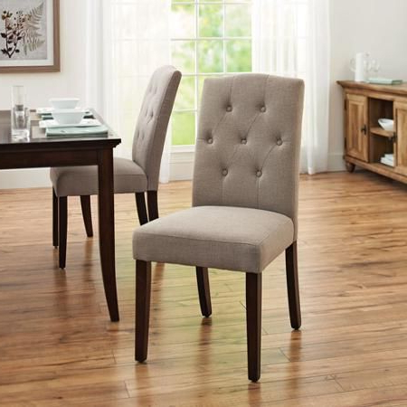 Aaliyah Parsons Chairs With Regard To Best And Newest Better Homes And Gardens 7 Piece Dining Set With Upholstered (View 15 of 30)