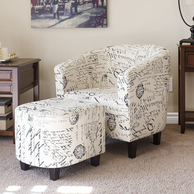 "Abbottsmoor Barrel Chair And Ottoman Sets In Most Current Abbottsmoor 21"" Barrel Chair And Ottoman In (View 7 of 30)"