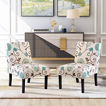 Accent Chair Set Of 2, Armless Accent Chairs For Living Room Entryway Bedroom Armless Slipper Chair Set Of 2, Fabric Pertaining To Popular Armless Upholstered Slipper Chairs (View 20 of 30)