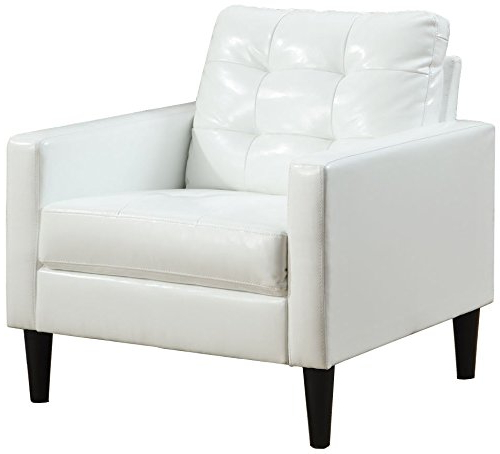 Acme Balin White Faux Leather Accent Chair Buy Online In Inside Popular Montenegro Faux Leather Club Chairs (View 12 of 30)