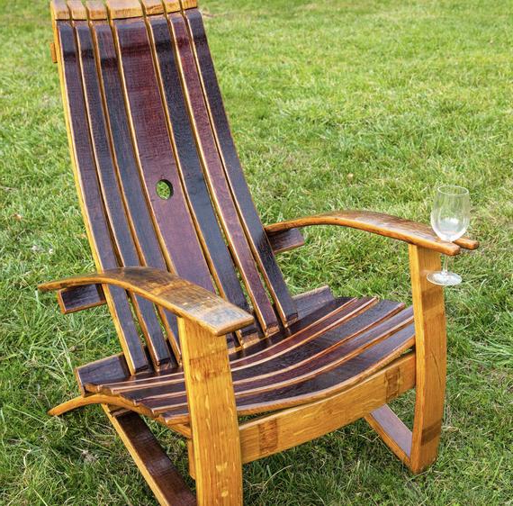 Adirondack Chair, Tables, Wine Barrel Chair, Wine Barrel Furniture , Rustic Chair, Patio Chair, Outdoor Furniture, Barrel Chair Pertaining To Widely Used Lau Barrel Chairs (View 9 of 30)
