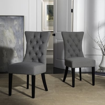 Aime Upholstered Parsons Chairs In Beige Inside Most Popular Jacobs Upholstered Dining Chair (View 23 of 30)