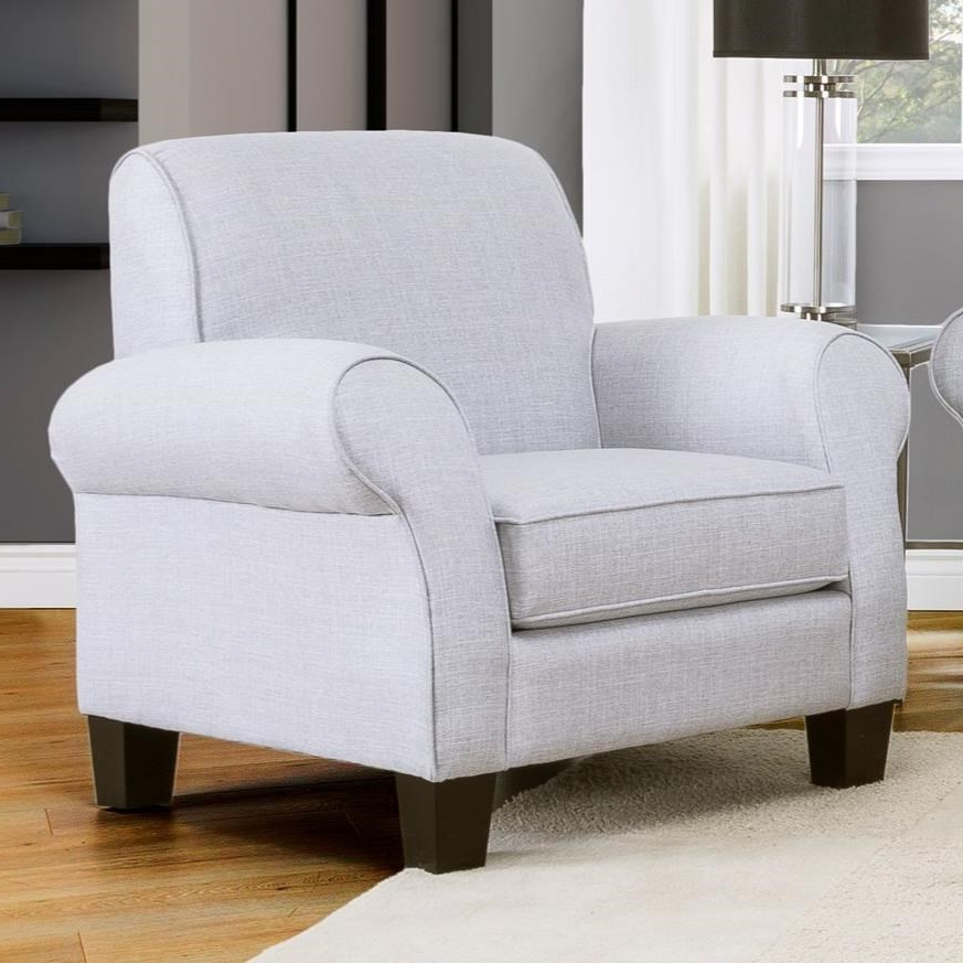 Aime Upholstered Parsons Chairs In Beige Pertaining To 2019 Decor Rest 2025 Casual Upholstered Chair With Rolled Arms (View 17 of 30)