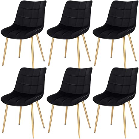 Aime Upholstered Parsons Chairs In Beige Within Latest Eugad E909 Dining Room Chairs, Set Of 6, Kitchen Chairs, Upholstered Chairs, Retro Design, Living Room Chair With Backrest, Velvet Seat, Gold Legs (View 22 of 30)