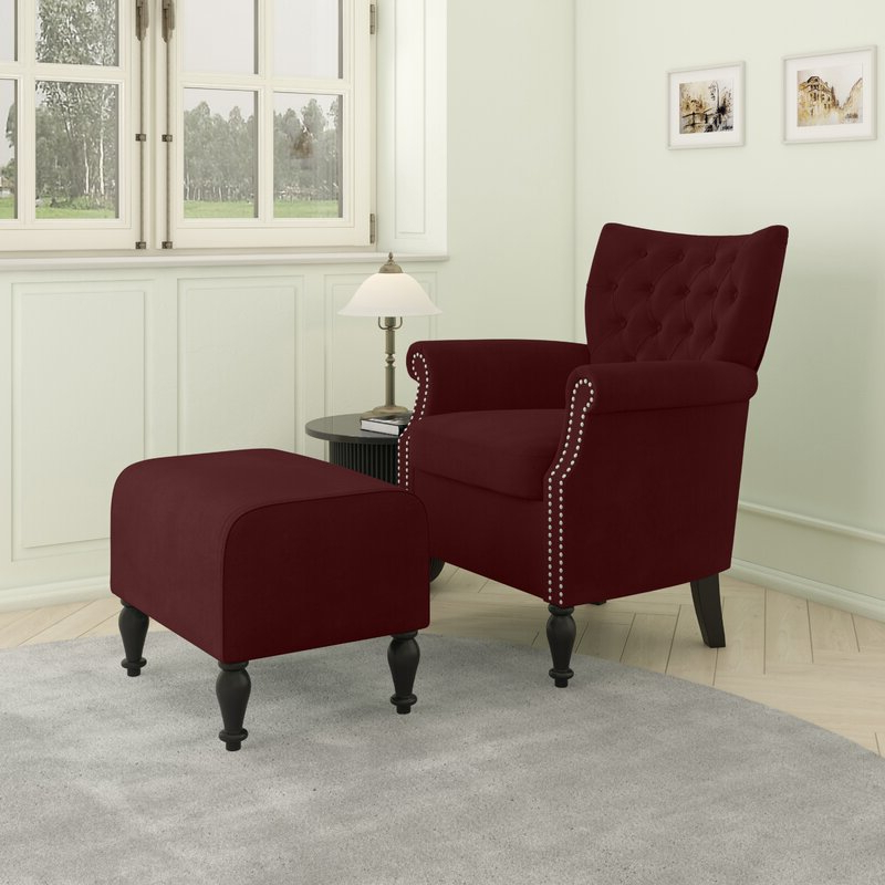 Akimitsu Barrel Chair And Ottoman Sets Inside Current Brassfield Armchair And Ottoman (View 17 of 30)