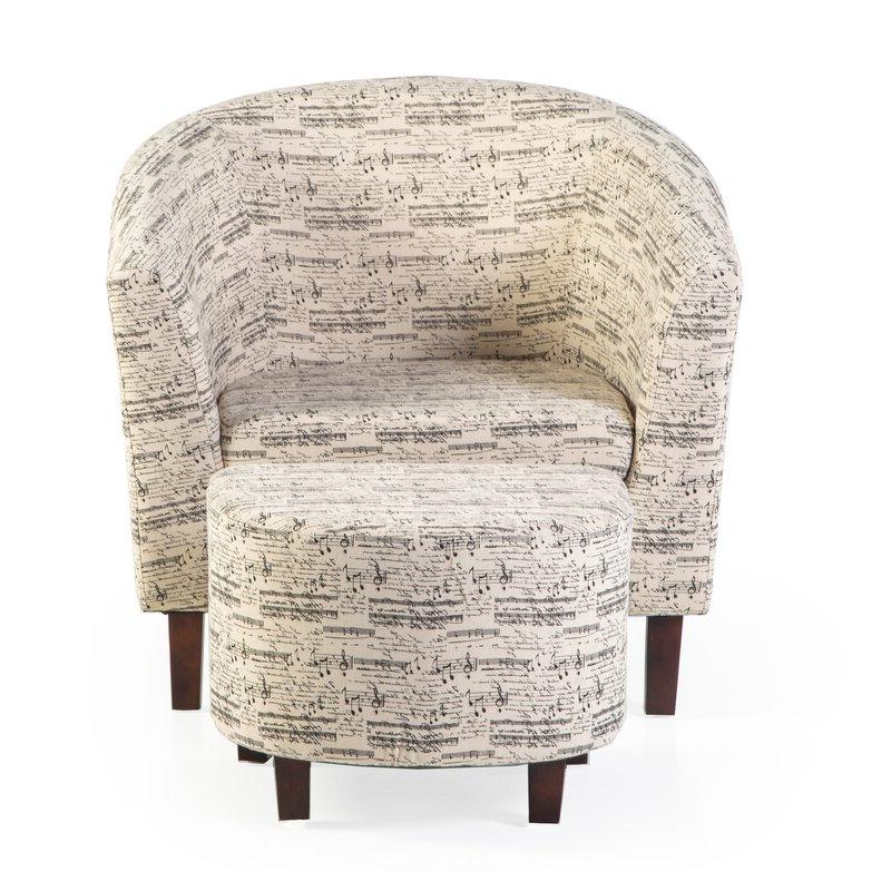 Akimitsu Barrel Chair And Ottoman Sets With Regard To Famous Lochlan Barrel Chair And Ottoman (View 11 of 30)