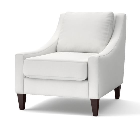 Alexander Cotton Blend Armchairs And Ottoman For Well Known Aiden Upholstered Armchair (View 12 of 30)