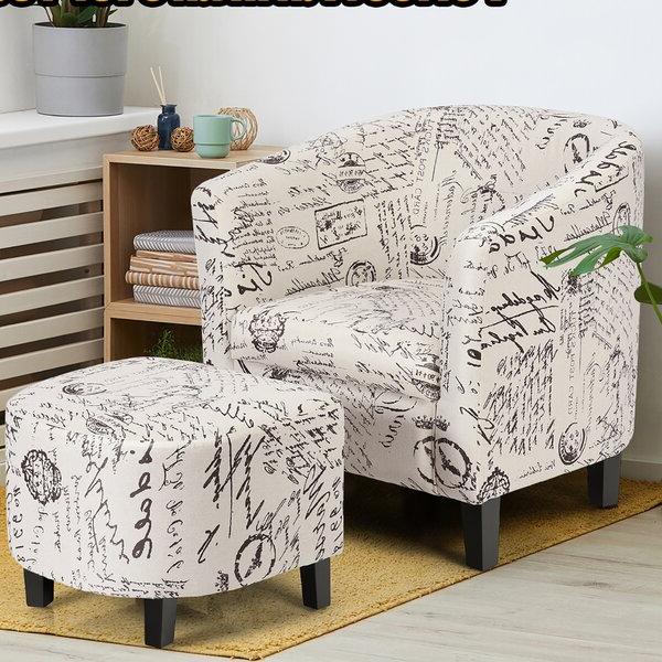 Featured Photo of Alexander Cotton Blend Armchairs And Ottoman
