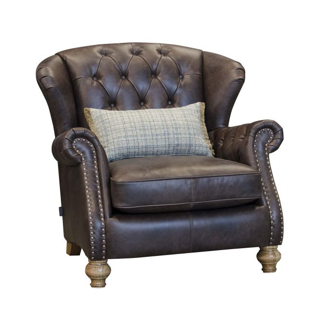 Alexander & James Bloomsbury Wing Chair Cal Smoke Leather For 2020 James Armchairs (View 7 of 30)