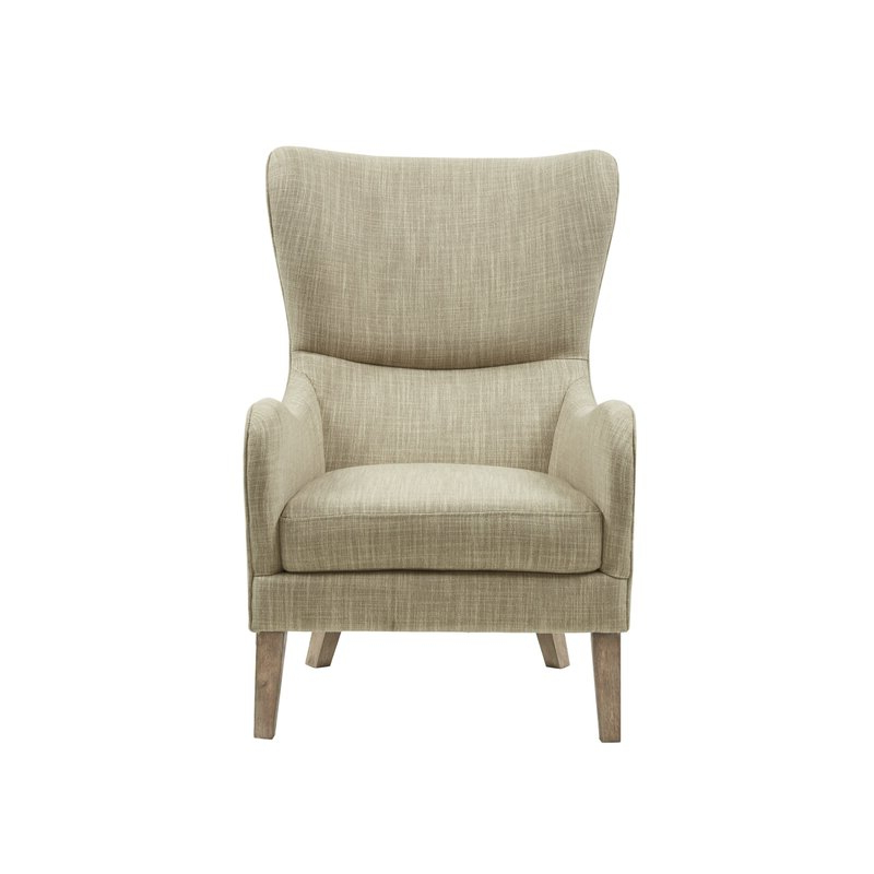 Allis Tufted Polyester Blend Wingback Chairs For Newest Oday (View 17 of 30)
