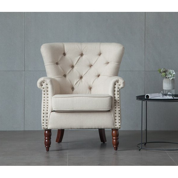 Allis Tufted Polyester Blend Wingback Chairs For Newest Twining Barrett (View 27 of 30)